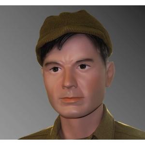 Military Male Mannequin Black Hair MDP16-CN