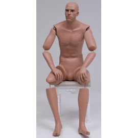 MSA09-ART ARTICULATED SITTING Military Male Mannequin (without uniform)