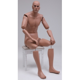 MSA13-ART bendable articulated sitting Military Male Mannequin