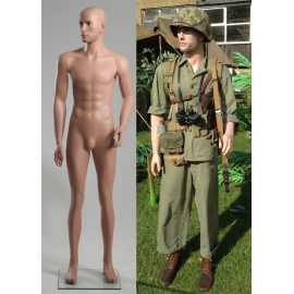 Military Male Caucasian Mannequin MDP13 (without uniform)
