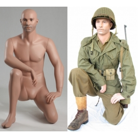 Military Male Kneeling Mannequin MSG01 (without uniform)