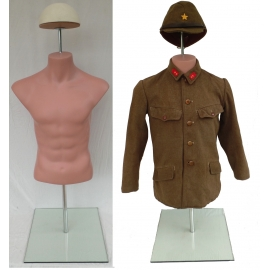 Military Male Headless Half-Body Dress Form TOR-HL
